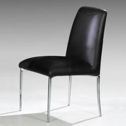STELLAC Lot de 4 chaises noires