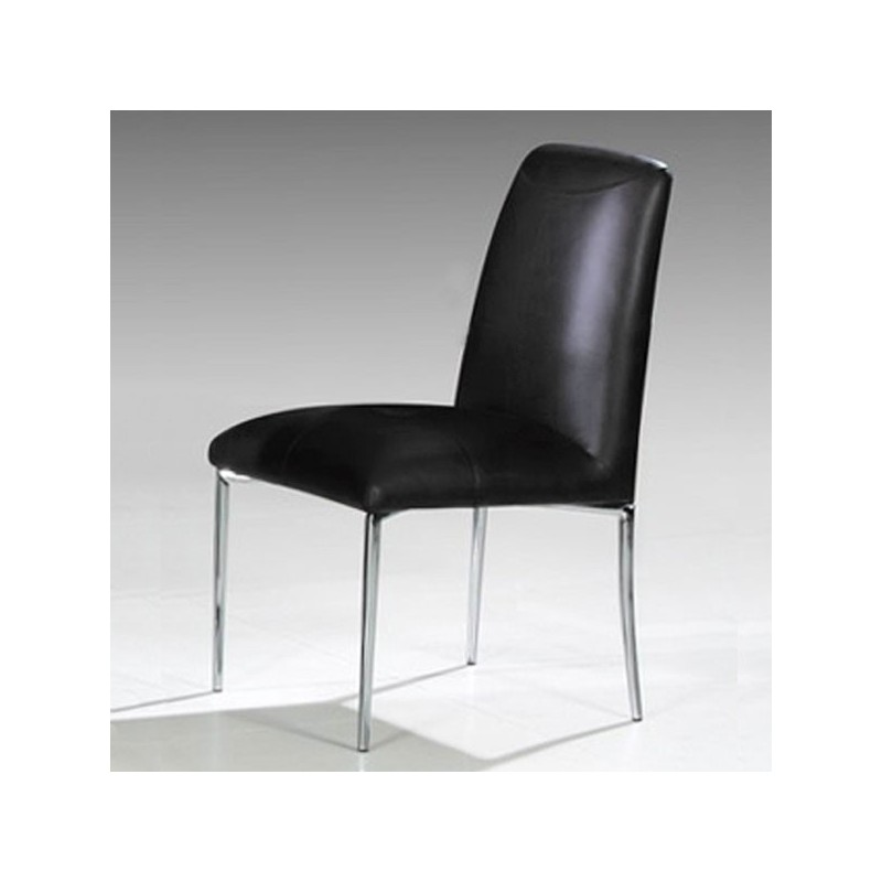 LOLA Lot de 4 chaises noires