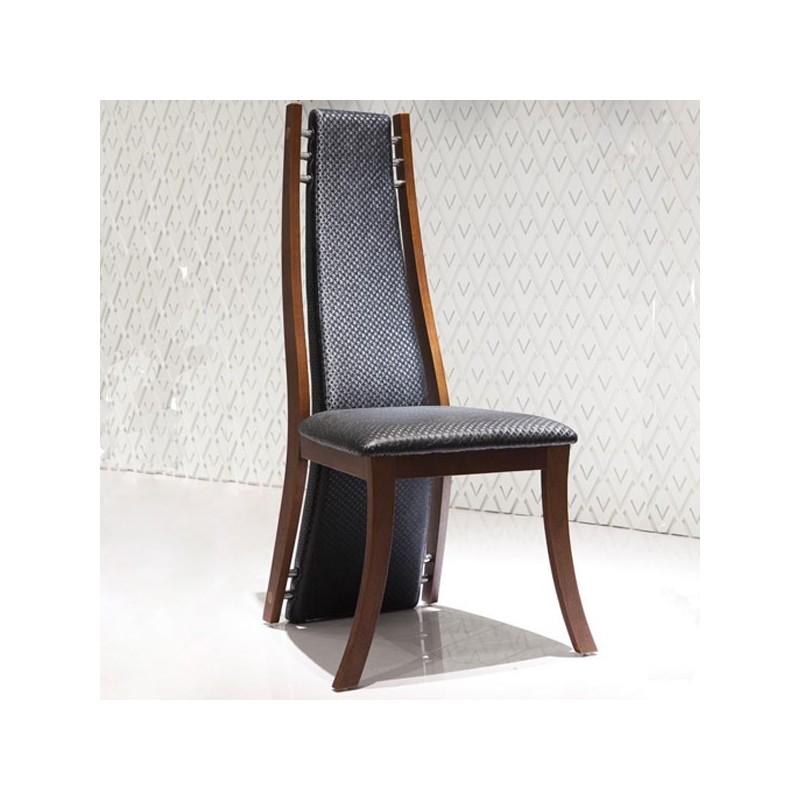 VERTIGO Lot de 4 chaises finition bois