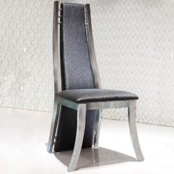 VERTIGO Lot de 4 chaises finition métal
