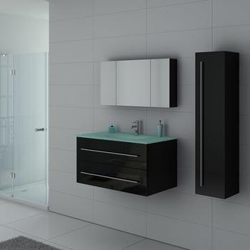 Meuble de salle de bain simple ou double vasque, longueur d\'un ...