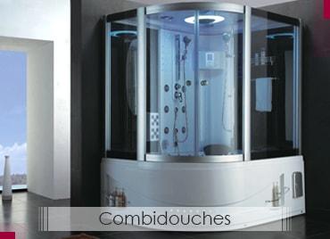 Meuble salle de bain pas cher cabine de douche salles bain bois salledeba - Combine baignoire douche belgique ...